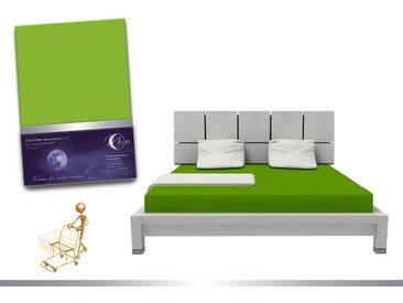"""Luxus Wasserbett Spannbettlaken """"Line platin"""" 180 - 200x220 240g/m² Spannbetttuch -kiwi"""