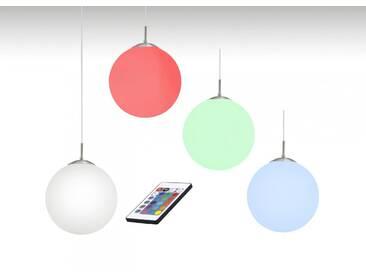 LED RGB Pendelleuchte Farbwechsel Ø 20cm Peters-Living opal Glaskugel