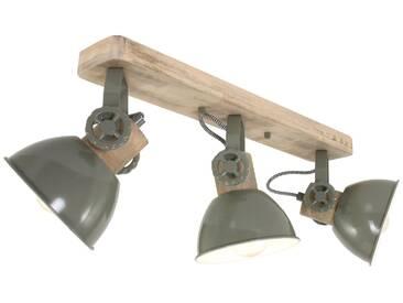 Deckenleuchte Holz Grün 3x E27 Strahler Steinhauer Mexlite 2133G