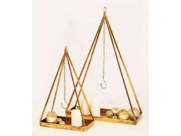 Kerzenhalter Tablett 2er Set Zum Aufhängen Metall Antikgold