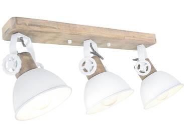 Deckenleuchte Holz Weiß 3x E27 Strahler Steinhauer Mexlite 2133W