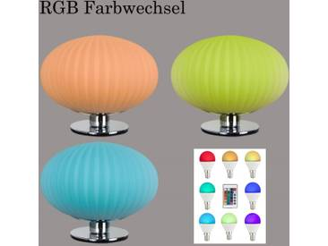 RGB LED Tischleuchte Peters-Living Laura 5296070 Fernbedienung