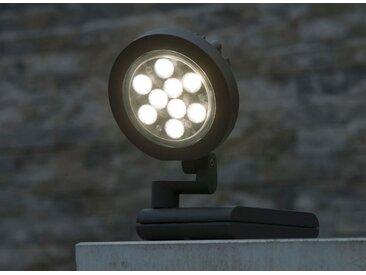 LED Außenstrahler Wandlampe 22 Watt Eco-Light Lutec Nevada 6102 S-GR