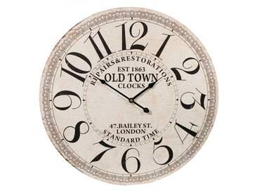 Wanduhr XL Dekouhr Rustikal Antik Vintage Uhr Old Town Rund Ø60cm