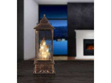 LED Tischleuchte Globo 23307 Laterne Kerzen Weihnachtsdeko