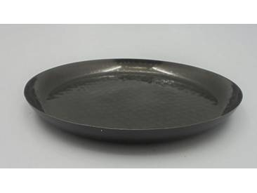 Marokkanischer Metall Deko Teller Schale Ø40cm Schwarz Orientalisch