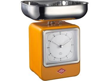 Retro - Küchenwaage mit Uhr - Orange