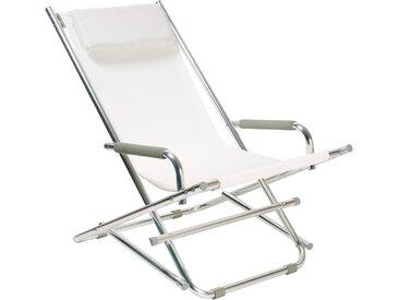 Beach Chair - Liegestuhl - Weiß