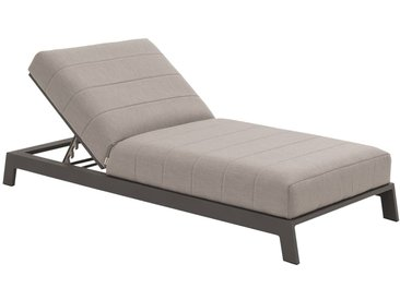 OUTLIV. Bite Loungeliege 203x90 cm Aluminium/Sunbrella® Schwarz/Lead Chine