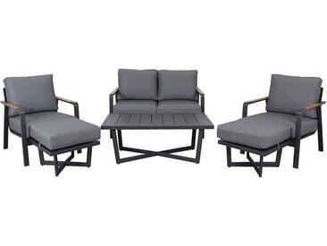 OUTLIV. Calw Loungegruppe 6-teilig Aluminium/Polyester Anthrazit/Grau