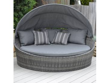 Creative Living Los Angeles Loungeinsel Geflecht Mixed Grey/Grey