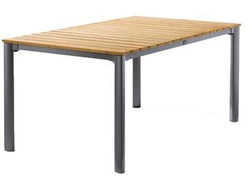 Sieger Gartentisch 165x95 cm Aluminium/Teak Eisengrau