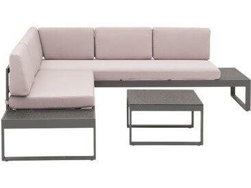 OUTLIV. Brescia Loungeecke Aluminium/Polster Anthrazit