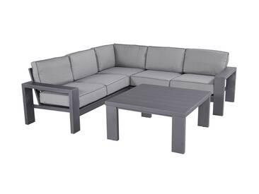 Hartman Titan Loungeecke 3tlg Aluminium/Polster Seal Grey/Light Grey