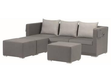 Zebra Jack Loungeset Aluminium/Textilgewebe Grau/Silbergrau