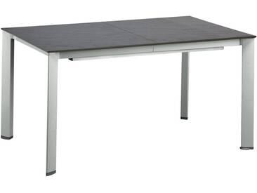 Kettler HKS Ausziehtisch 160/220x94 cm Aluminium/Kettalux-Plus Silber/Anthrazit-Schieferoptik-Matt