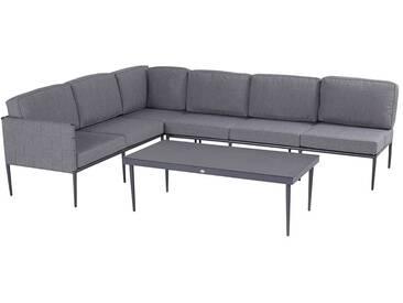 Hartman Correa Sofagruppe 3tlg Aluminium/Gurt Seal Grey/Anthrazit