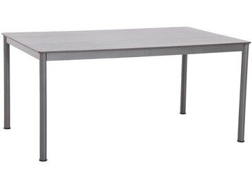 MWH Pure Gartentisch 160x90 cm Aluminium/Creatop Basic Eisengrau/Grau