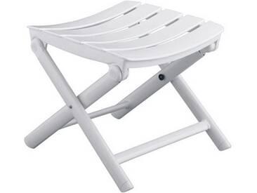 Kettler Riva Hocker Aluminium/Kunststoff Weiß