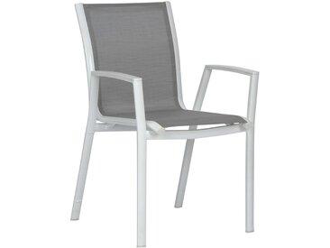 Stern Ron Stapelsessel Aluminium/Textilene Weiß/Silber