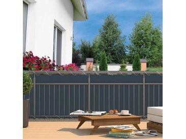 Hecht Balkon-Sichtschutz Polyester Anthrazit