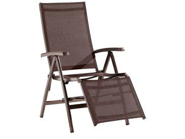 Sieger Bodega Relaxsessel Aluminium/Textilene Marone/Mocca