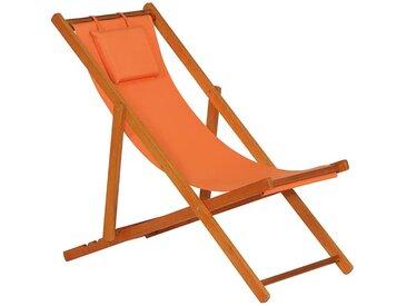 Siena Garden Faro Beach-Liegestuhl Holz/Textilene Orange
