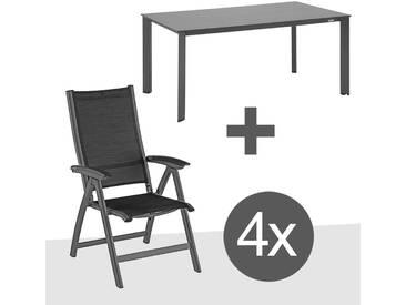 Kettler Avalon Gartenmöbelset 5tlg Aluminium Anthrazit/Graphit