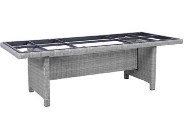 Kettler Palma Modular Tischgestell 220x95cm Geflecht White-Wash