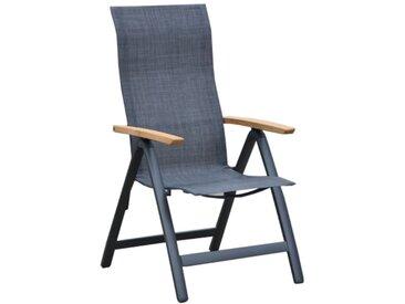 OUTLIV. Davos Klappsessel Aluminium/Textilene Anthrazit/Grau