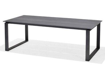 LifestyleGarden Aneto Gartentisch 215x100cm Aluminium/Duraboard Schwarz/Schiefer