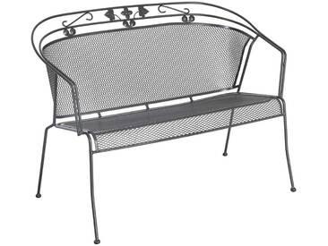 Royal Garden Elegance 2-Sitzerbank 114cm Metall Eisengrau