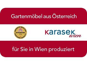 Karasek Riviera Stapelsessel Aluminium/Textilene mit Alu-Armlehnen Silber/Stratos