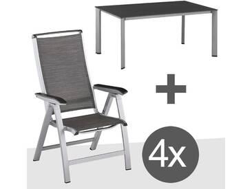 Kettler Forma II Gartenmöbelset 5tlg Aluminium Silber/Graphit