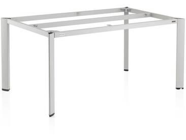 Kettler Edge Tischgestell 160x95x72cm Aluminium Platin