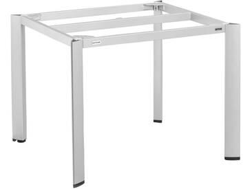 Kettler Edge Tischgestell 95x95x72cm Aluminium Platin