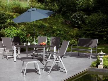 Kettler Basic Plus Gartenmöbelset  9-teilig mit HPL-Lofttisch silber/anthrazit Silber/Anthrazit