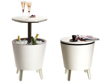 Keter Cool Bar Kühlbox+Beistelltisch Ø50 cm Kunststoff Creme