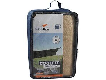 Nesling Coolfit Sonnensegel Quadrat 360x360cm HDPE Sand