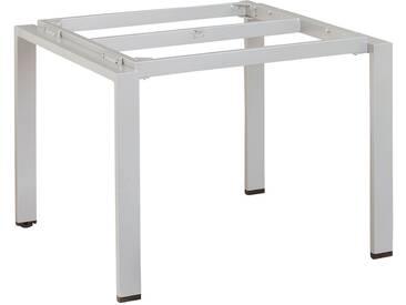 Kettler Float Tischgestell 95x95x72cm Aluminium Platin