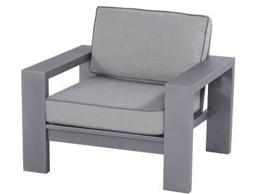 Hartman Titan Loungesessel Aluminium/Polster Seal Grey/Light Grey