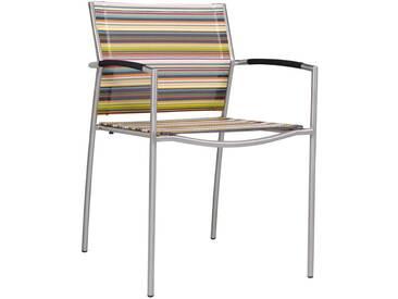 Zebra Rovex Stapelsessel Edelstahl/Batyline Stripe