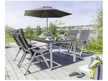 Kettler Easy Gartenmöbelset 14-teilig mit Edge Tisch 160x95cm Silber/Anthrazit