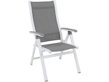 MWH Evo Klappsessel Aluminium/Textilene Arctic White/Grau