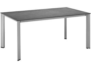 Kettler HKS Lofttisch 160x70 cm Aluminium/Kettalux-Plus Silber/Anthrazit-Schieferoptik-Matt