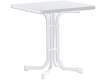 Sieger Boulevard Klapptisch 70x70 cm Stahl/Mecalit Weiß/Marmor Weiß
