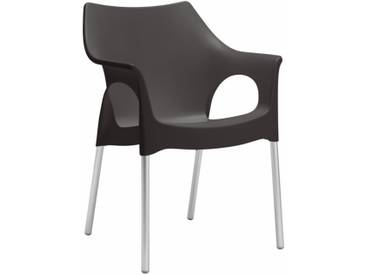 Scab Design Ola Stapelsessel Aluminium/Kunststoff Anthrazit