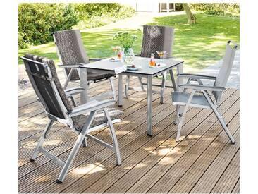 Kettler Forma II Gartenmöbelset 9tlg Aluminium/Textilene Silber/Graphit