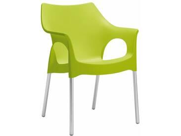 Scab Design Ola Stapelsessel Aluminium/Kunststoff Hellgrün