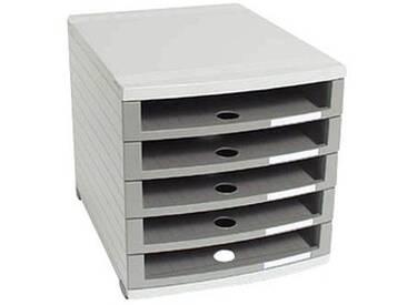 HAN Schubladenbox Contur grau mit 5 Schubladen